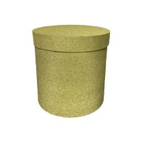 Блестящая золотая Круглая коробка